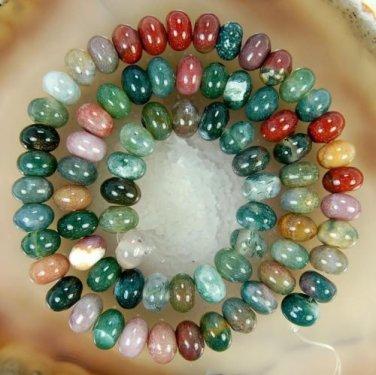 4X6mm Multicolor Natural India RARE Agate Onyx Abacus Gemstone Loose Bead 15''AA
