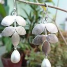 """Solid Sterling Silver 92.5% Earrings with Natural White Pearl 2.20x0.90"""" (191)"""