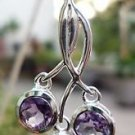 "Solid Sterling Silver 925 Pendant Gemstone Amethyst Jewellery 1.30x0.65"" (181)"