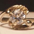 Sterling Silver 925 Engagement Ring Simulated Diamond size 5.7  (711)