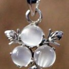 Pendant Moonstone Natural Sterling Silver 92.5%  Jewellery 1.00x0.65 inch (276)