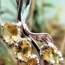 "Sterling Silver 92.5% Pendant natural Citrine 1carat each 1.3""x0.6""(184)"