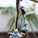 Sterling Silver 92.5% Pendant Round Blue Topaz Gemstone 1.50 x 0.50 inch (75)