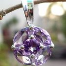 Sterling Silver 92.5% Pendant Natural Amethyst Gemstone 0.70x0.40 Handmade (183)