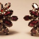 925 Sterling Silver Natural Marquese Garnet Eartops handmade (736)