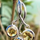 "Sterling Silver 92.5% Pendant Handmade Round Citrine gemstone 1.30x0.65"" (182)"