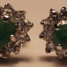 Sterling Silver 925 Gemstone Green Onyx studs Eartops handmade (737)