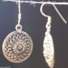 Sterling Silver 92.5% Round Earring Traditional Filigree Handmade (344)
