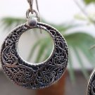"Earrings Filigree work Dangle Sterling Silver 92.5% handmade 1.30 x 0.80"" (64)"