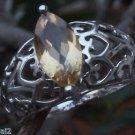 Peridot Ring marquise Gemstone 925 Sterling Silver size 7.25 Handmade Jali (637)