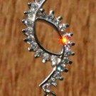 Sterling Silver 92.5% Pendant Handmade Amethyst Zircon AD 2.00 x 0.40 inch (297)