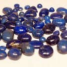 Natural Gemstone Lapis Lazuli good for jewellery 20 pcs oval & Round (673)