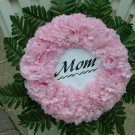 Pale Pink Cemetery Wreath/Grave Flowers for Mom