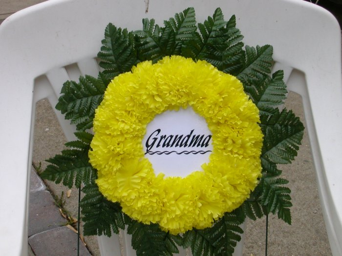 Grave Wreath/Cemetery Flowers for Grandma