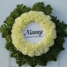 Pale Yellow Cemetery Wreath/Grave Flowers for Nanny