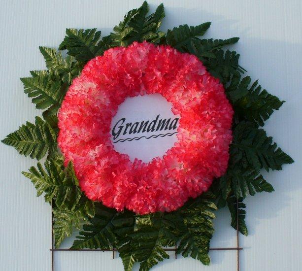 Peppermint Silk Cemetery Flowers/Grave Wreath for Grandma