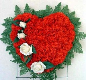 Broken Heart Silk Cemetery/Grave Flowers