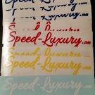 Speed-Luxury 2x8 Stickers