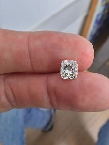 2.10 Carat Cushion H SI1 100% Natural Diamond Certified CT 7.58*7.08 Stunning!!