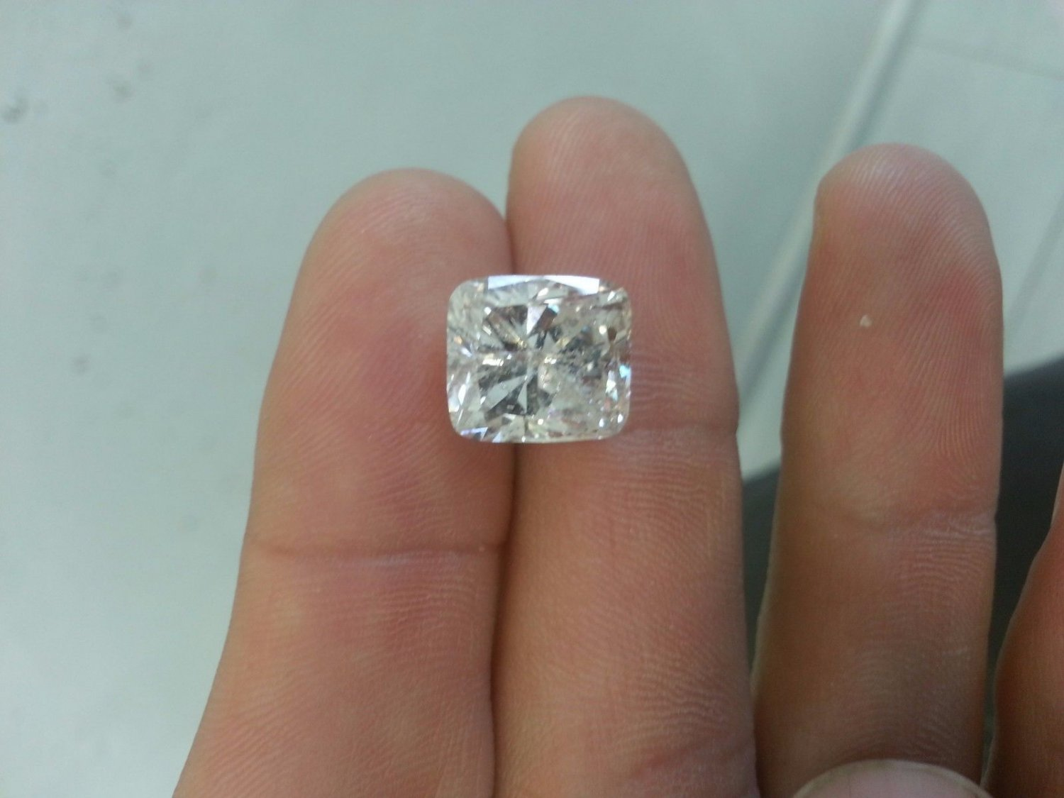 8.88 Carat Cushion G SI2 100% Natural Certified CT Diamond Rare One of A Kind!
