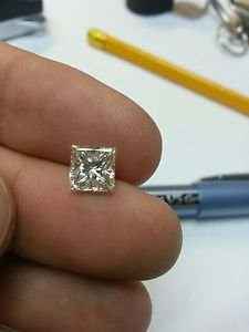 2.02 Carat Princess H VS2 100% Certified Loose Diamond Certified 7.02*6.94 Nice!