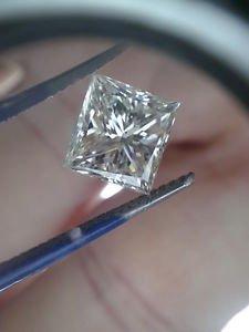 2.22 Carat Princess J VS2 100% Natural Certified Diamond 7.24 X 7.06 Stunning!!