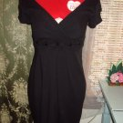 City Triangles Black Cocktail Dress Vintage look Sz S