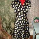 Wrapper Vintage look Polka Dot Dress size Large
