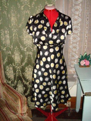 Wrapper Vintage look Polka Dot Dress size Large
