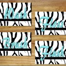 Zebra Bathroom Wall Art Pictures Prints Bath Quotes Decor Wash Brush Flush Turquoise Teal