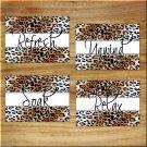 Cheetah Leopard Bathroom Wall Art Pictures Prints Bath Decor Refresh Relax Soak Unwind 5x7