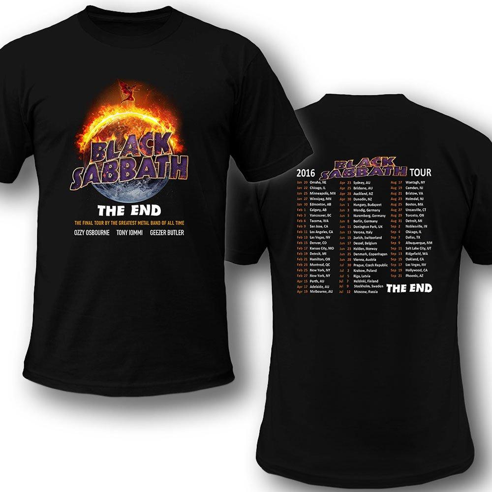 Black Sabbath tour 2016 The End by Show concert scedules
