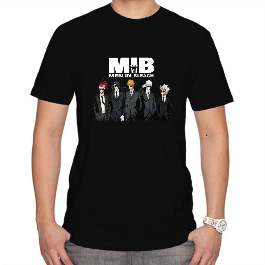 Men in Bleach MIB boy's anim manga black t-shirt
