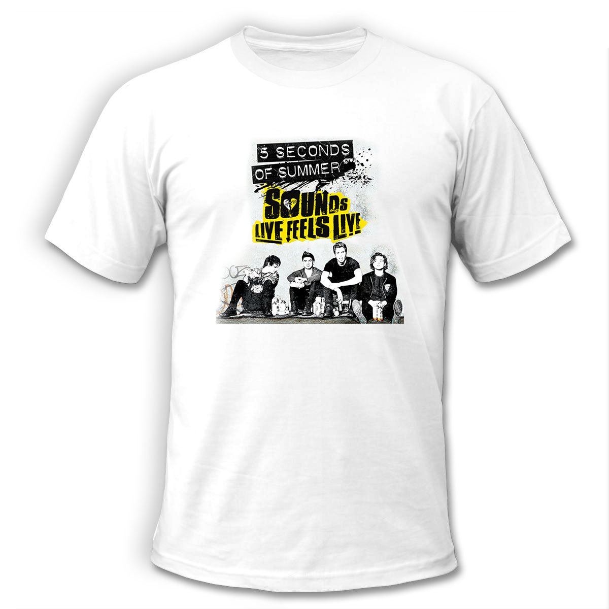 5 SOS Seconds of Summer Tour 2016 Show Concert scedules White T-Shirt