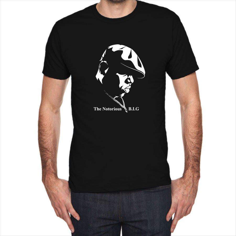 Biggie Smalls The Notorious BIG Face siluet black t-shirt