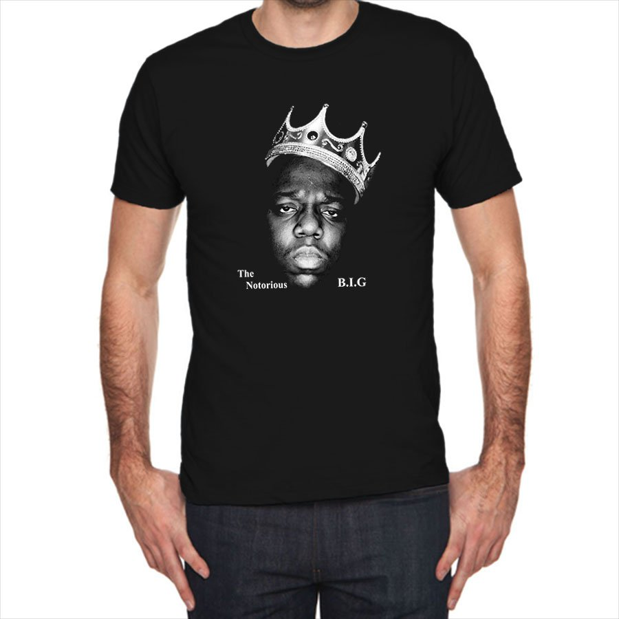 The Notorious B.I.G. Biggie Smalls King Face siluet black t-shirt