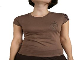 LADIES BROWN CAP SLEEVE TEE