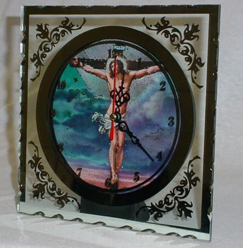 NEW Crucifix Clock Mirrored With LED Lighting, Perfect Gift $9.99