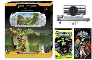 PS Portable Psp01Slim Ultimate Bundle - Silver Bundle W/ Daxter 1gb Memory Psp Camera, 22 More Games
