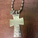 042 Serenity Prayer Cross Necklace