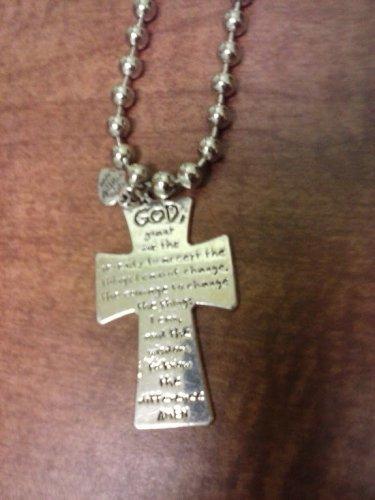 042 Serenity Prayer Cross Necklace