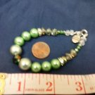 026 Handmade Various colored Green Bead bracelet