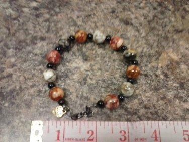 048 Handmade Multicolor Agate Beaded Bracelet