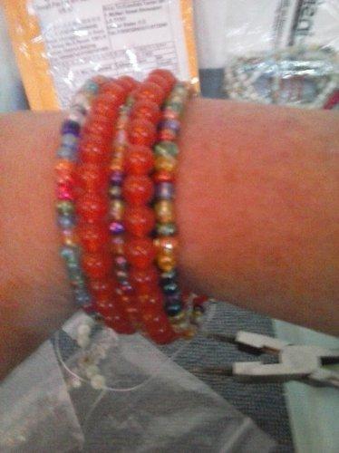 Orange South American Topaz bracelet