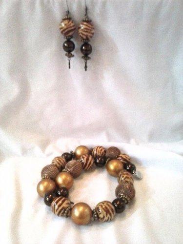Brown zebra stripe bracelet