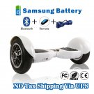 10 inch Two Wheels Hoverboard Smart Self Balancing scooter White