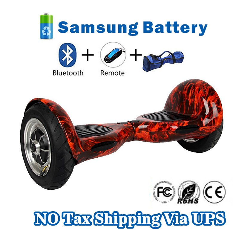 10 inch Two Wheels Hoverboard Smart Self Balancing scooter Fire Frame