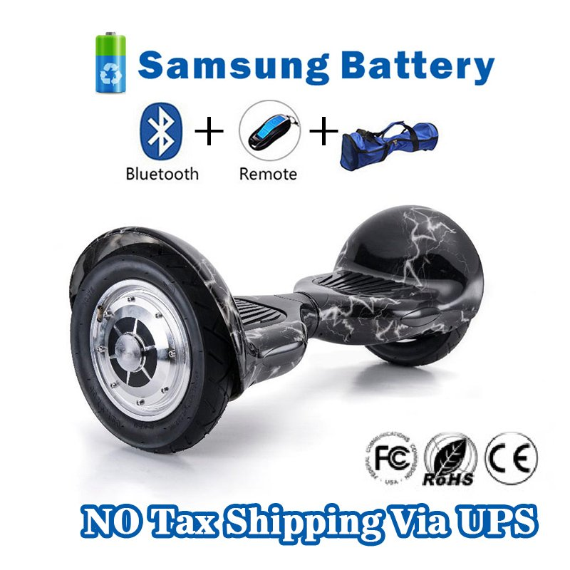 10 inch bluetooth hoverboard self balancing two wheels with Samsung Battery