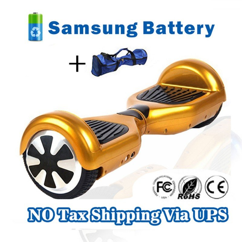 Self Balancing 2 Wheels Hover Board Electric Scooter Skateboard Gold