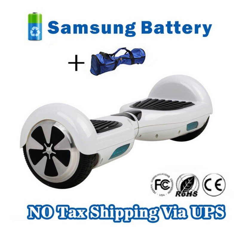 6.5 inch Self electric balance scooter 2 Wheels Hover Board White
